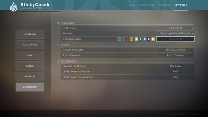 destiny 2 accessibility