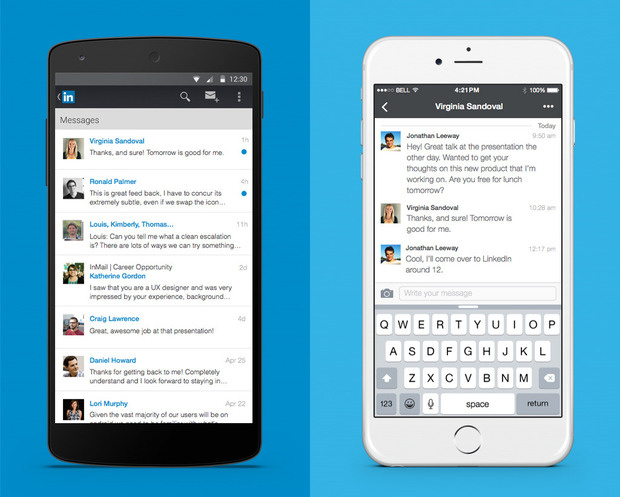 linkedin messaging mobile