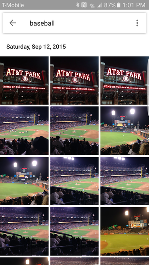 google photos baseball