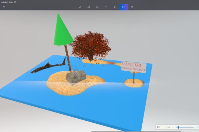 paint3d 3d scene