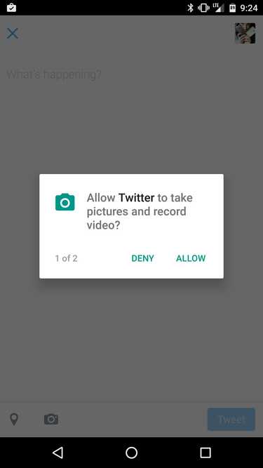 marshmallow permissions twitter