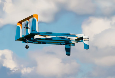 Amazon hybrid drone prototype for Amazon Prime Air service
