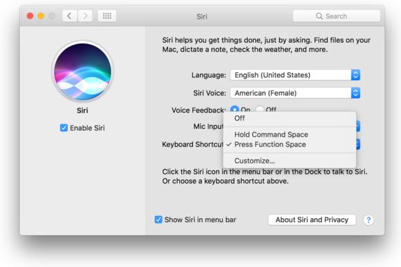 siri keyboard shortcuts