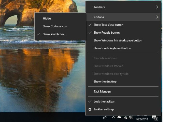 Windows10 customize Cortana