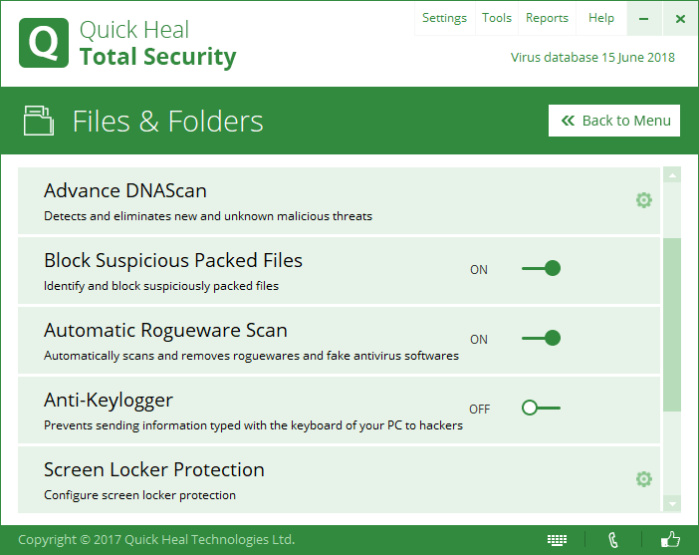quickhealtotalsecurityfilesandfolders