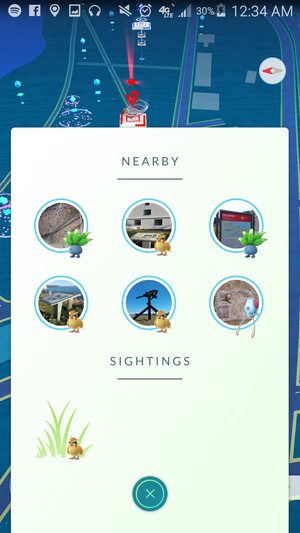 pokemon go nearby