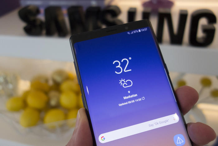 samsung note 9 front