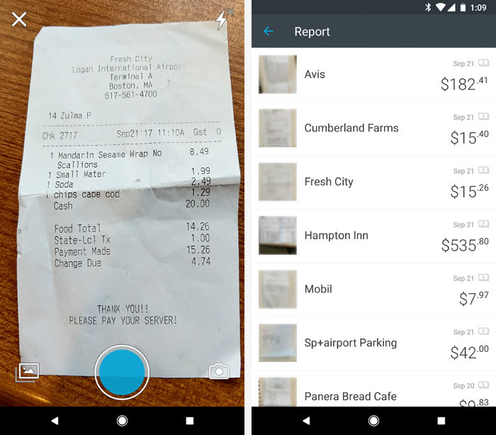 Android apps for organization - Expensify