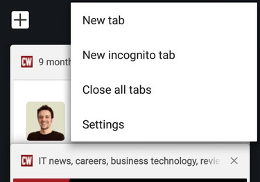 Chrome for Android - close all tabs