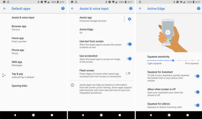 google pixel active edge