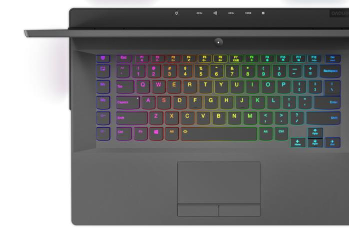 lenovo legion y730 laptop corsair icue rgb keyboard detail