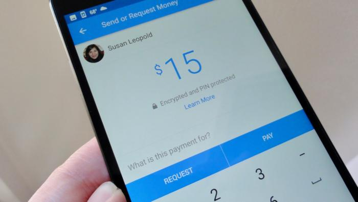 Facebook Messenger payments screen