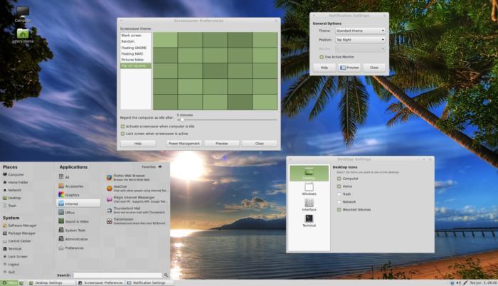 linux mint desktop