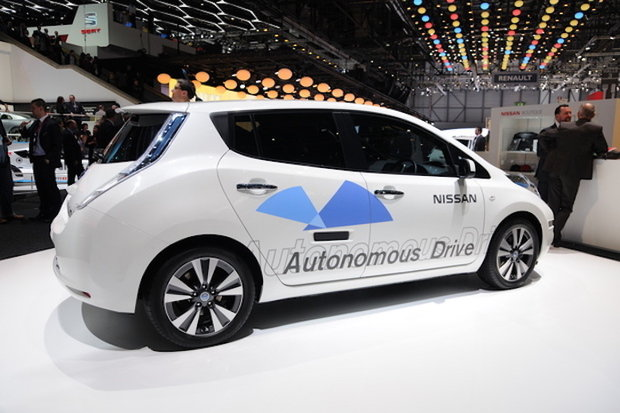 geneva motor show Nissan autonomous vehicle