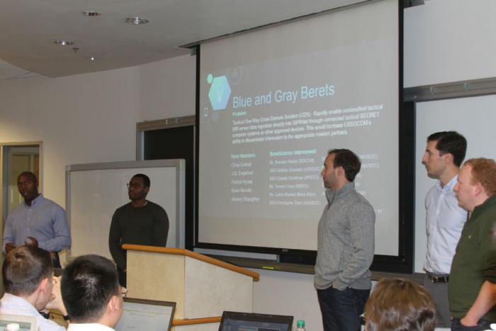 Georgetown H4D team presenting in class.