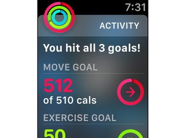 apple watch hit all 3 goals