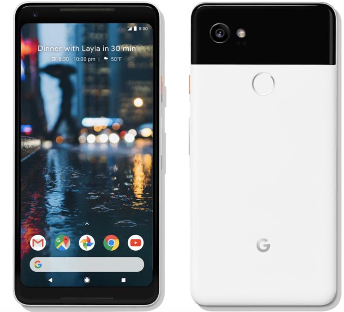 google pixel 2 xl front back