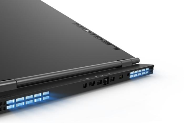 lenovo legion y730 laptop 17 inch rear ports detail