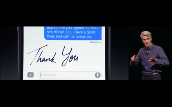 ios 10 messages handwritten