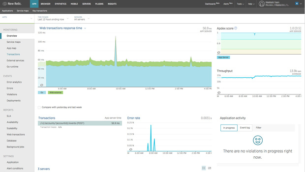 new relic golang support