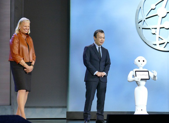 IBM's CEO with the Pepper robot