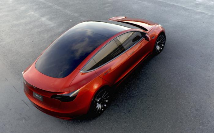 Model 3 all-glass roof solar
