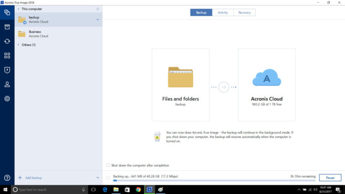online backup software - Acronis