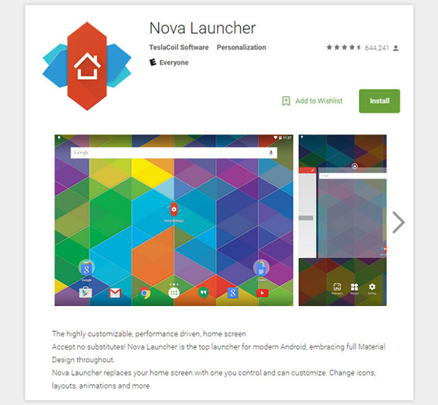 Nova Launcher Google Play