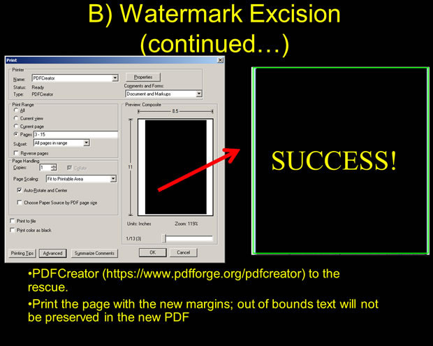 Remove watermarks, jump academic paywalls