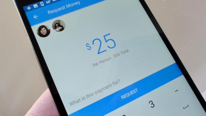 Facebook Messenger splitting a bill