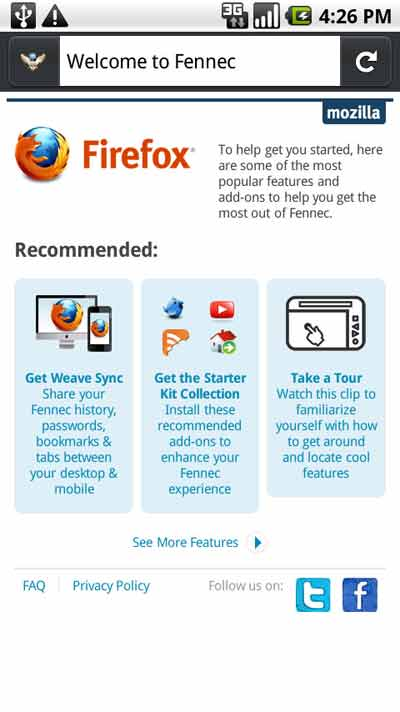 Firefox for Google Android: A hands-on tour