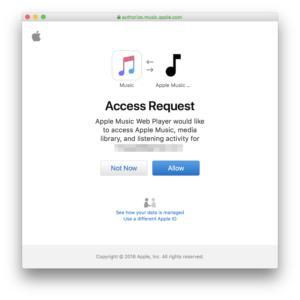 apple music web 2fa