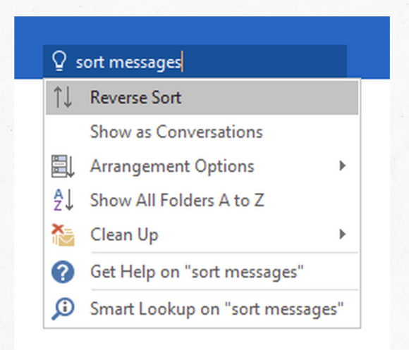 tell me what to do outlook
