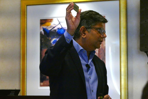 Anand Chandrasekher with Qualcomm's ARM chip