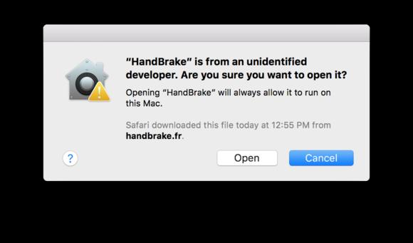 sierra open unapproved app