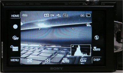 Sony DSC-T900 menu system
