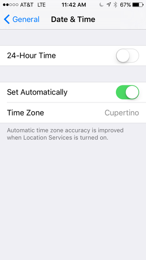 date and time automatic update toggle