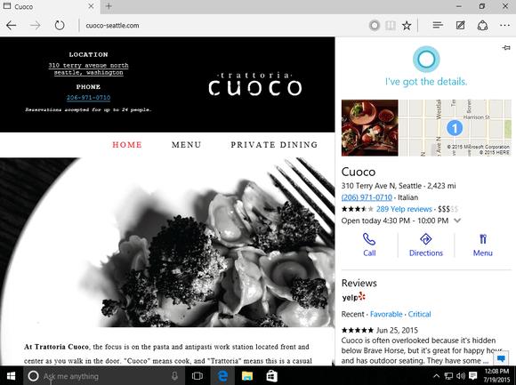 windows 10 cortana edge browser
