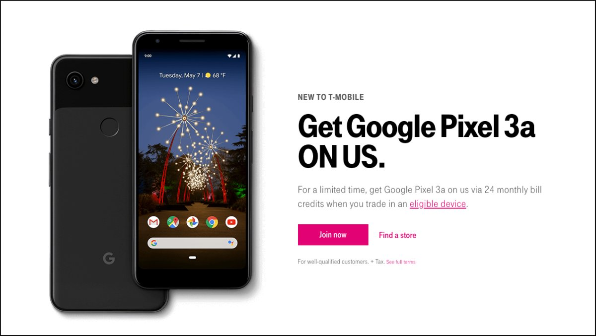 T-mobile Pixel 3a deal