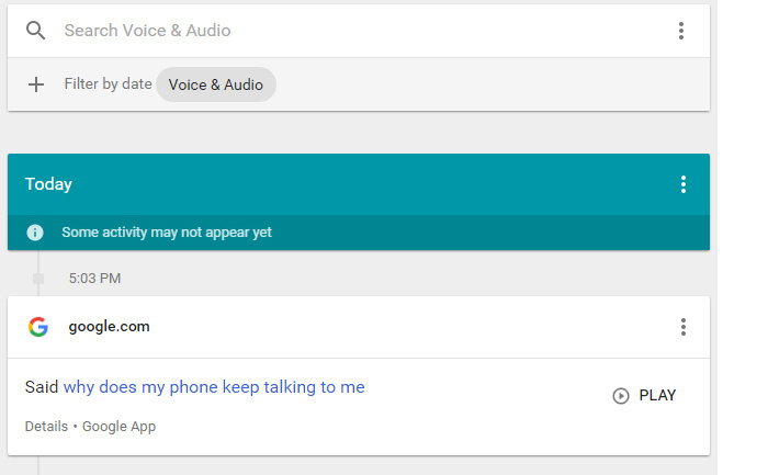 Google - voice commands