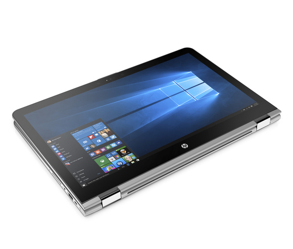 hp envy x360 15.6 tablet mode front right facing
