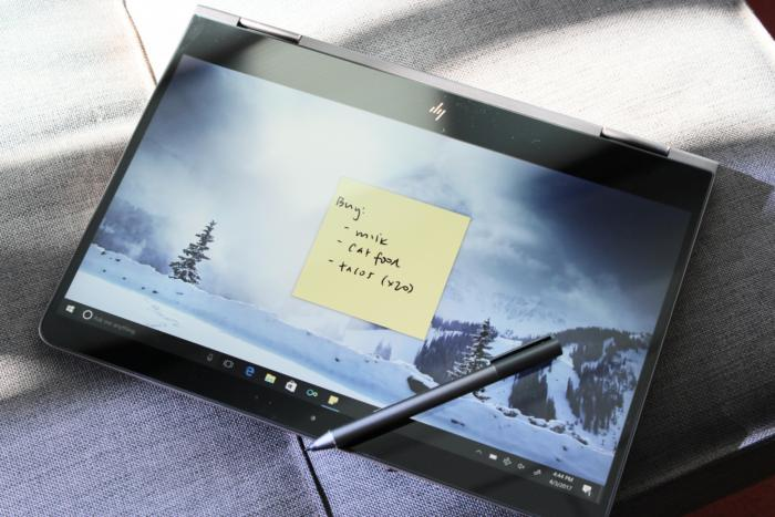 HP Spectre x360 2017 tablet mode with pen