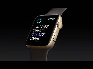 apple watch lap count