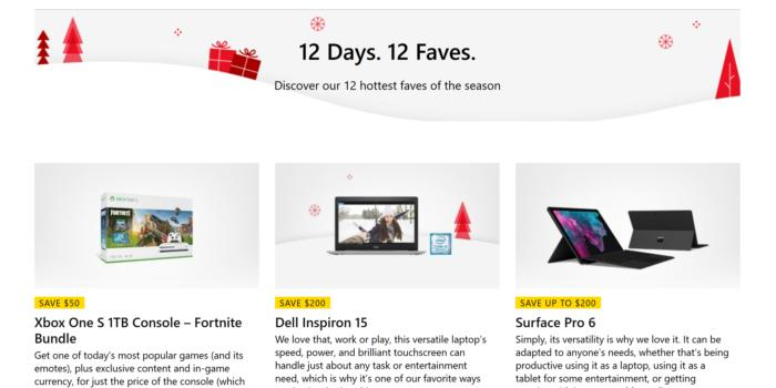 microsoft 12 days of faves