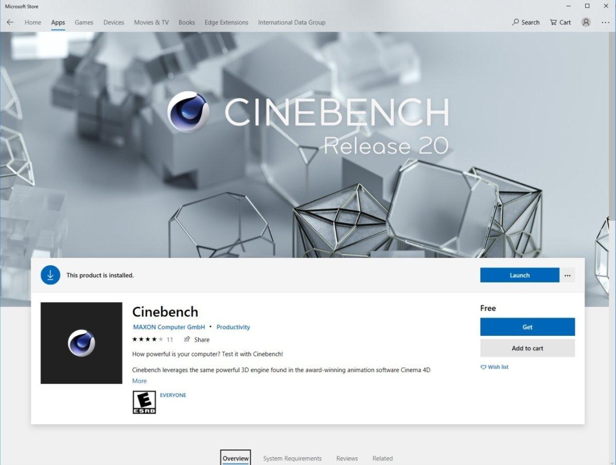 cinebench r20 store