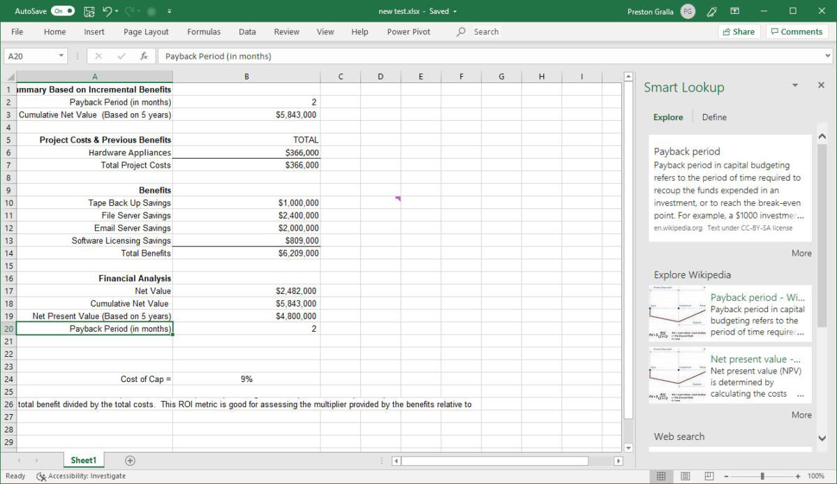 excel office365 smart lookup