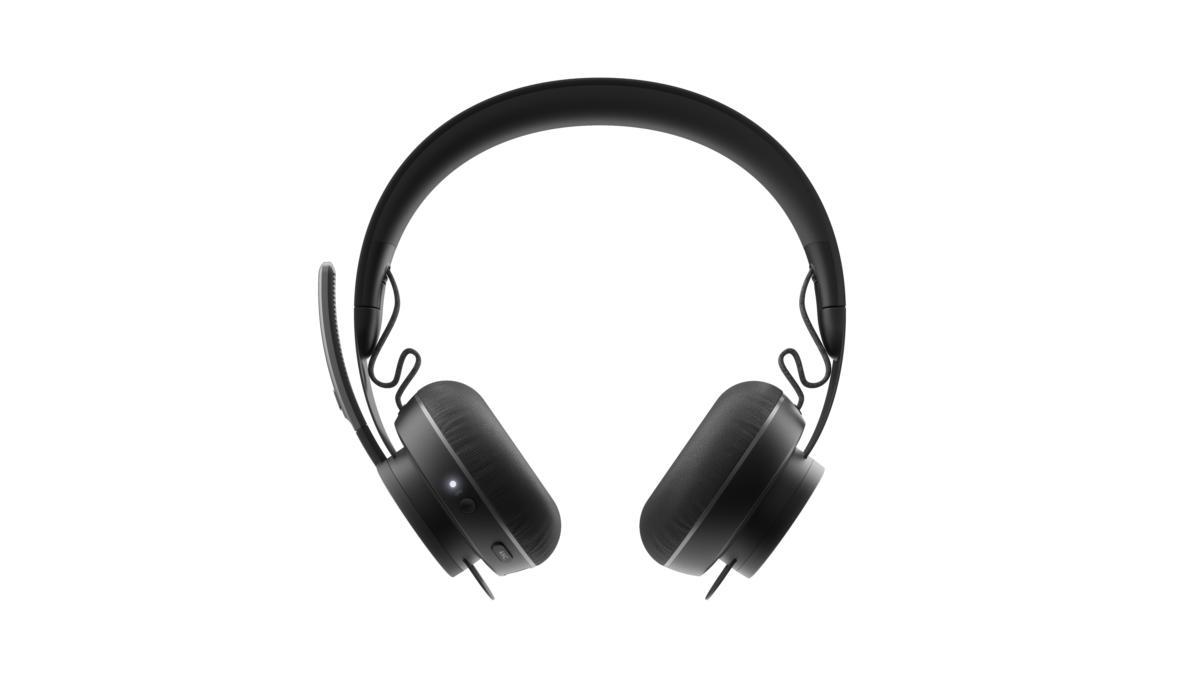 logitech zone wireless headset front