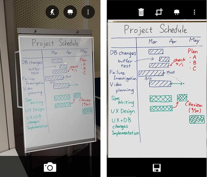 Office Lens app aligns, cleans up and crops images