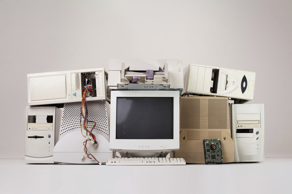old pcs stock image