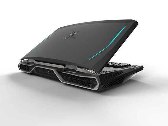 acer predator 21 x rear half closed